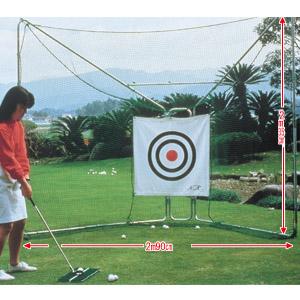 簡単2つ折り式ゴルフ練習ネット画像