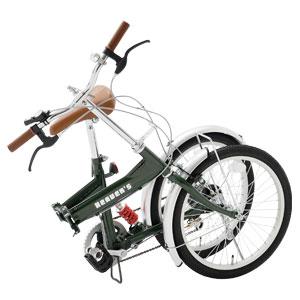 3オプション付20インチ折り畳み自転車画像