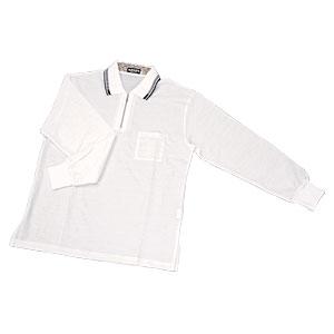 UVカット 本麻長袖ポロシャツ画像