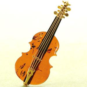 バルト海の宝石琥珀 バイオリンブローチ画像