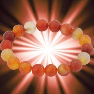 天然12mm珠 カーネリアンブレスレット画像