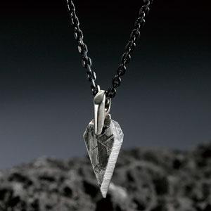 ギベオン隕石ダイヤモンドカットネックレス画像