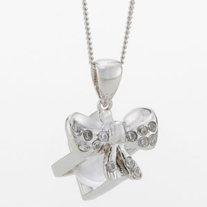 射手座 天然白水晶「プレゼント」ペンダント画像