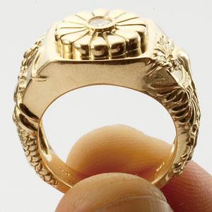 「菊紋・龍・鳳凰」の指輪画像