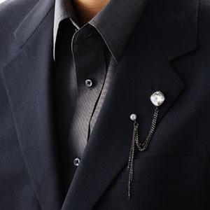 襟元を華やかに飾る ダブルピンズ画像