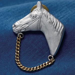 森銀器 馬の黄金手綱アイグラスホルダー画像