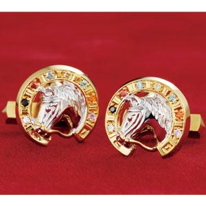 幸運を呼ぶ黄金馬蹄 紳士用宝飾画像
