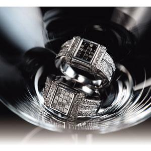K18WGダイヤモンド Wフェイスリング画像