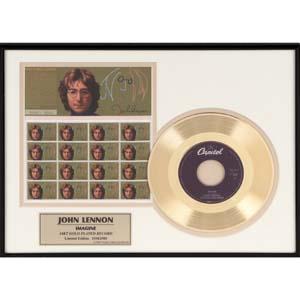 ジョン・レノン 24金ゴールドレコード額画像