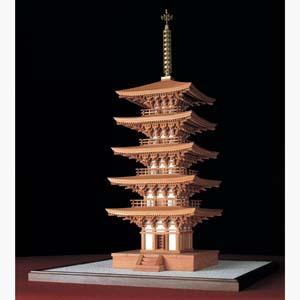 香木製建築模型1/36「室生寺五重塔」画像