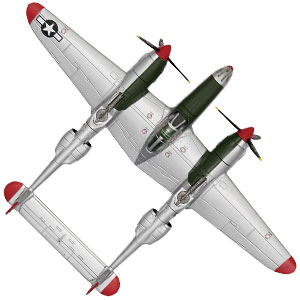 P-38ライトニング リチャード・ボング少佐機画像