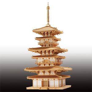 木製建築模型1/40大スケール薬師寺東塔画像