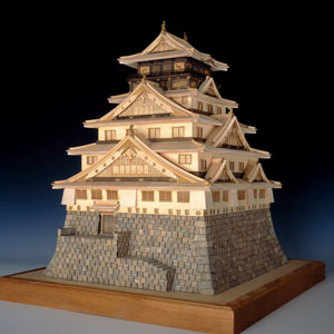 木製建築模型1/150大阪城天守閣画像