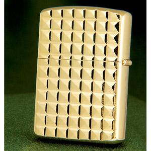 ゴールドアーマーWダイヤカットZIPPO画像