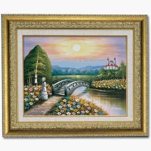 宝生千春肉筆油絵「幸福への架け橋」画像
