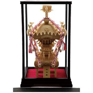 70cm!本ケヤキ・「祭神輿」画像