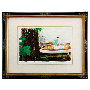 カシニョール直筆サインリトグラフ「ボート」画像