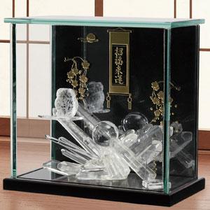 伝統工芸士佑幸作「開運白水晶ふくろう」画像