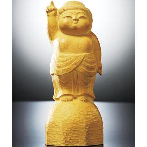 牛島辰馬作 木彫風ブロンズ像「誕生」画像