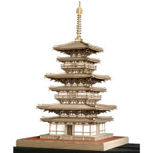 神代タモ使用 1/70木製建築模型・薬師寺東塔画像
