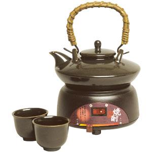 焼酎の旨みを引き出す「黒ぢょか酒燗器」画像