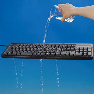 水もしたたるキーボード画像