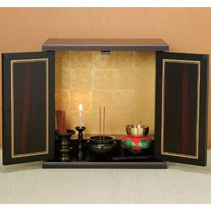 置き場を選ばない本格ミニ仏壇セット画像