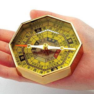 八角風水コンパス・ゴールド仕上げ画像