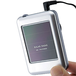 薄型ポケットサイズ  ソーラーラジオ画像