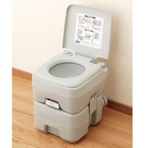 緊急時にも密閉ニ層式ポータブル水洗トイレ画像