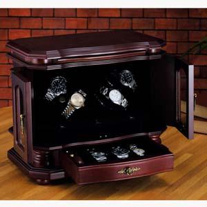 LEDライト付4連式ワインディングボックス画像
