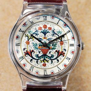 伊・ミラヴィリエ工房 マジョルカ焼腕時計画像