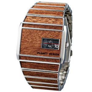 WOOD&フェイクレザーの目立てる腕時計画像