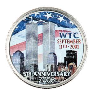 WTC5回忌限定NY州クォーター通貨画像