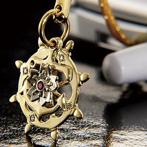 旧帝国海軍紋章モチーフ18金ストラップ画像