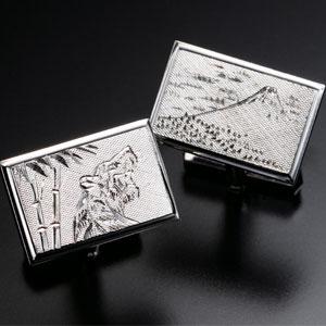 伝説の手彫師・江沢祐治郎作特別銀製カフス画像